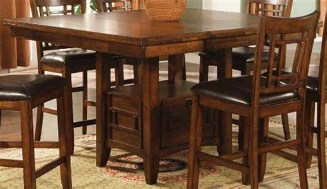 table eureka ca eureka counter height square dining table with storage in