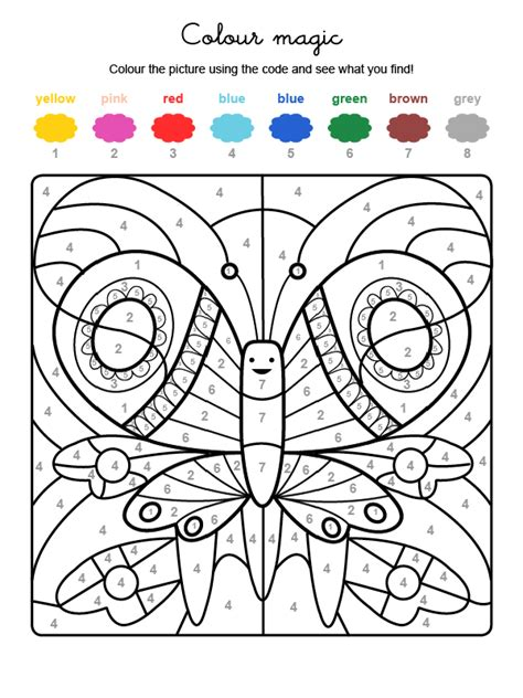 color by numbers salon colour by numbers una mariposa de colores