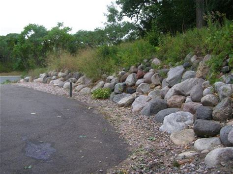 boulder retaining wall road home ideas collection