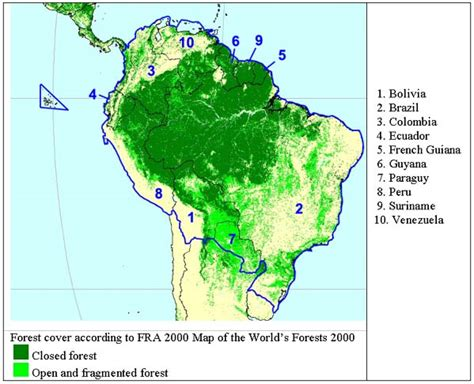 america rainforest map chapter 43 tropical south america