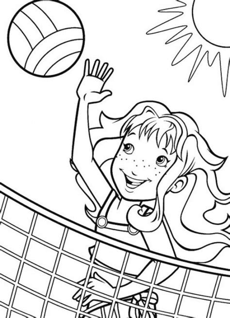 cartoon volleyball coloring page sport volleyball coloring pages for girls coloring pages