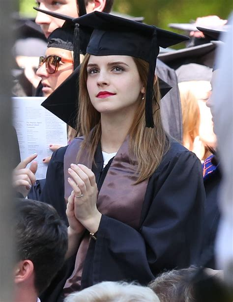 emma watson university emma watson graduates from brown university popsugar