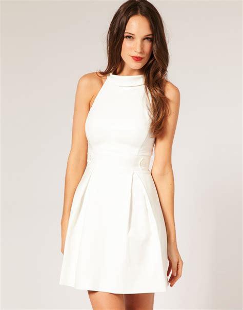 White Elegan white dress prom dresses