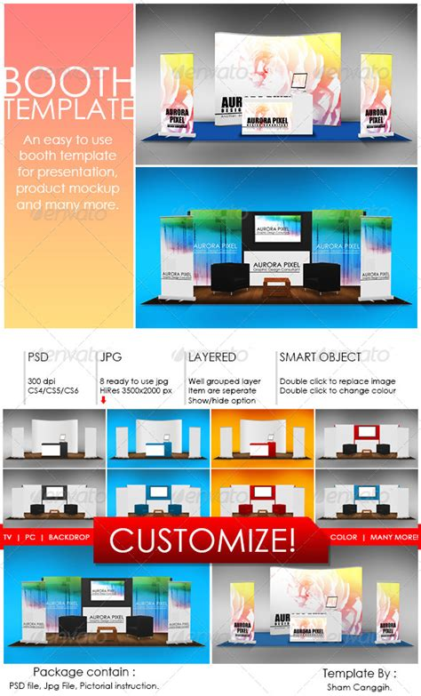 booth template part 7 by shamcanggih graphicriver