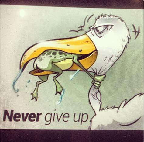 imagenes never give up never give up never surrender quote with cartoon staplepost