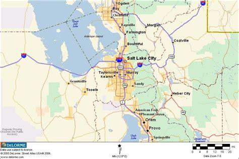 map salt lake city surrounding area map of salt lake city area bnhspine