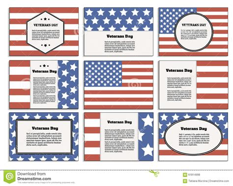 templates for veterans day cards veterans day poster brochure stock vector image 61814998