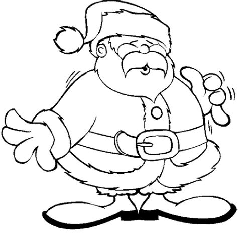 dancing santa coloring page picture of santa claus face cliparts co