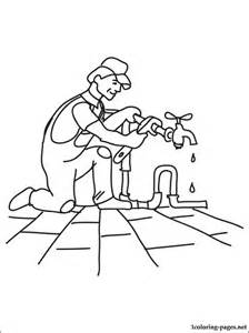 plumber coloring page coloring pages