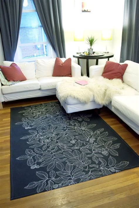 Diy Area Rug From Fabric Seriously A Diy Rug From A Drop Cloth Fabric Sewing Machine Wow Supplies Tacky Glue
