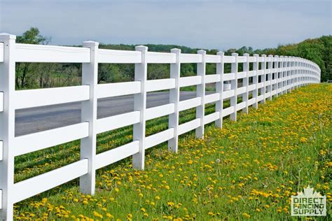 four rail vinyl fence ranch rail vinyl fence direct fencing supply