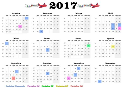Calendario Ao 2017 Chile Con Feriados