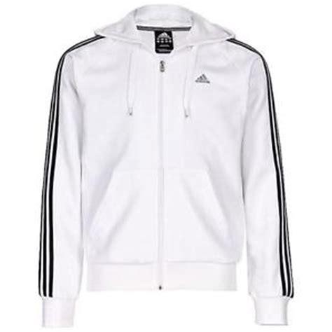 Hoodie Zipper Sweater Jaket Things new adidas essentials hooded zip track top 3 stripe hoodie jacket white ebay