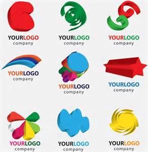 free illustrator logo templates threedimensional graphics logo template vector free vector