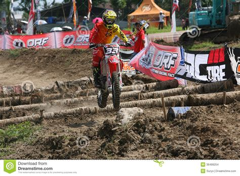 Cacing Sukoharjo motorcross editorial stock image image 36499254