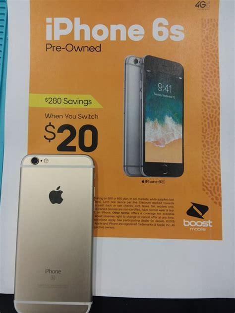 iphone 6s pre owned for only 20 when you switch to boost mobile for sale in las vegas nv