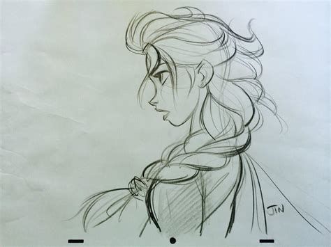 Sketches Here And There Summary by New Elsa Drawing By Disney Artist Jin Well Known For