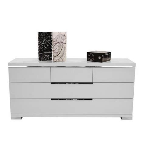 Commode Pas Cher by Commode Glossy Blanc 6 Tiroirs Achat Vente Commode Pas