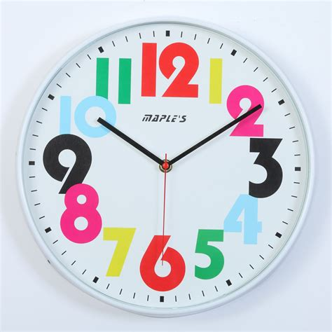 colorful clocks colorful retro wall clock rosenberryrooms
