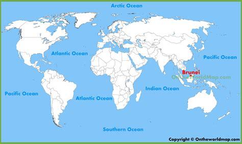 brunei on the world map brunei location on the world map