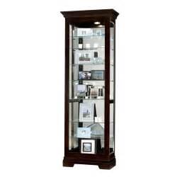Curio Cabinets Black Black Small Curio Display Cabinet Mirror 680412 Saloman