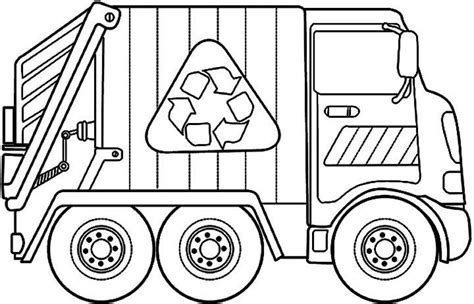 Trash Truck Coloring Pages Garbage Truck Coloring Pages Coloring Home