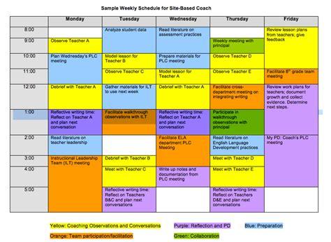 teacher timetable exle calendar template 2016