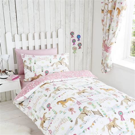 pink curtains 72 drop horse show pink girls childrens kids lined curtains 66 quot x