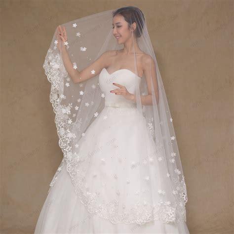 Wedding Veil by Aliexpress Buy 2016 Wedding Veils Floral Appliques