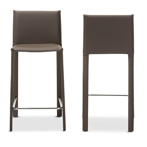 contemporary counter height bar stools baxton studio crawford modern and contemporary taupe