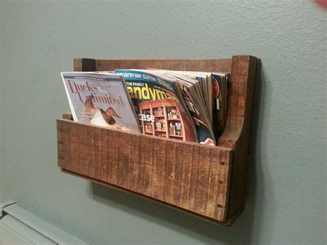 diy magazine holder for bathroom diy magazine rack from a leftover pallet for the home