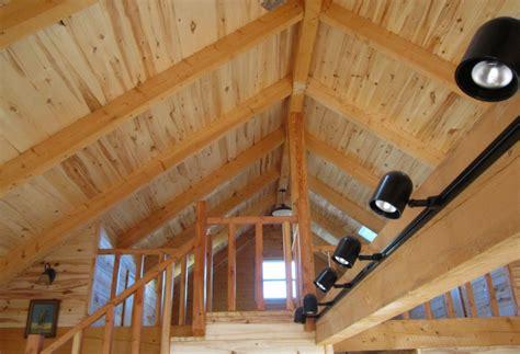 Cabin Ceiling by San Antonio Colorado Log Homes Log Home Floor Plans