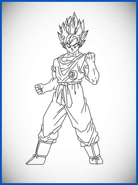 imagenes para pintar a goku dibujos para colorear faciles de goku www pixshark com
