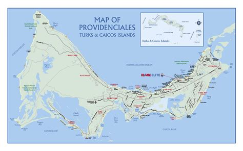 map of turks and caicos large detailed road map of providenciales island turks and caicos islands providenciales