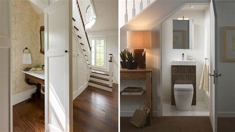 Renovating Bathroom Ideas Expert Advice Building A Powder Room Under The Stairs Rl