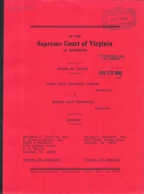 Richmond Va Court Records Virginia Supreme Court Records Volume 235 Virginia Supreme Court Records
