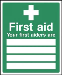 first aid sign health and safety signs