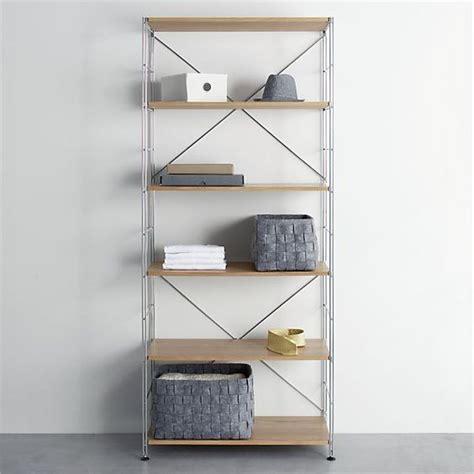 max chrome six shelf unit with wood shelves i crate and