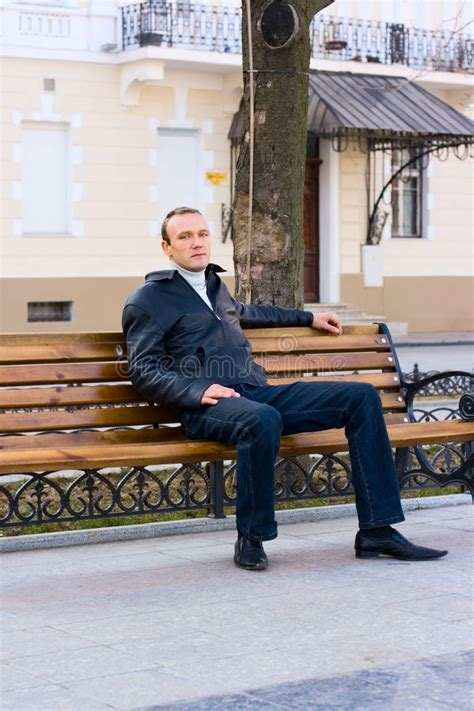 bench manly man sit on bench royalty free stock photos image 9073118