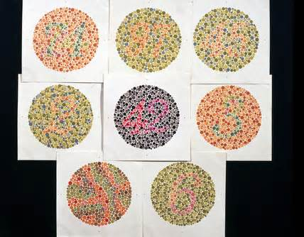 Colr Blind Test Set Of Ishihara Charts For Testing Colour Blindnes C 1959