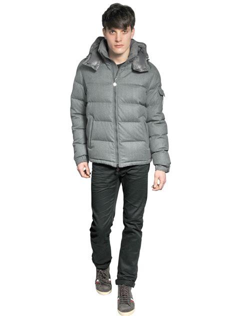 light pink moncler jacket lyst moncler montgenevre light flannel down jacket in