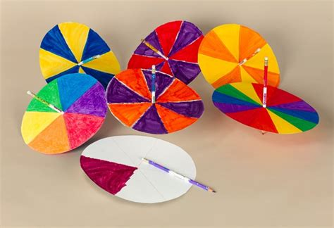 Colour Paper Crafts - color spinners craft crayola