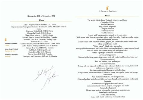 the menu picture of el celler de can roca girona tripadvisor our personal copy of the menu picture of el celler de can roca girona tripadvisor