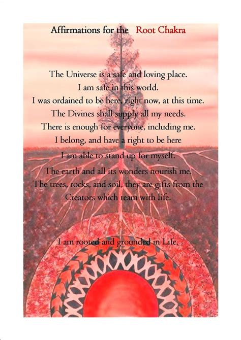 root chakra the root chakra affirmation root chakra 1 red