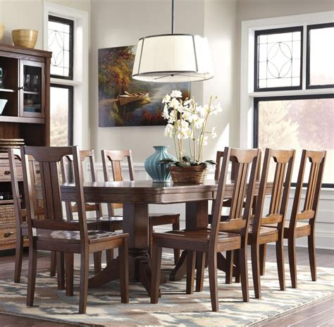 chimerin  piece oval dining room extension table set