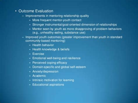 which stage of mentoring is most comfortable for the novice development and evaluation of mentoring programs for youth