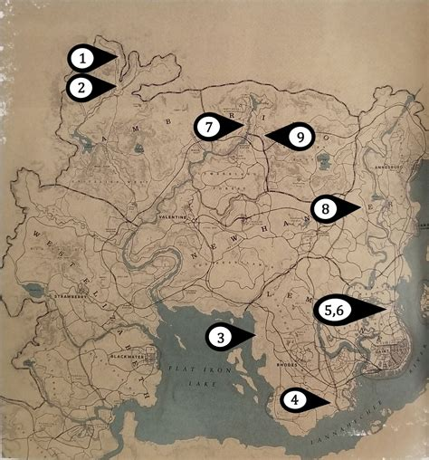 Sketched Map Rdr2 by Dead Redemption 2 Locations Paying Respects