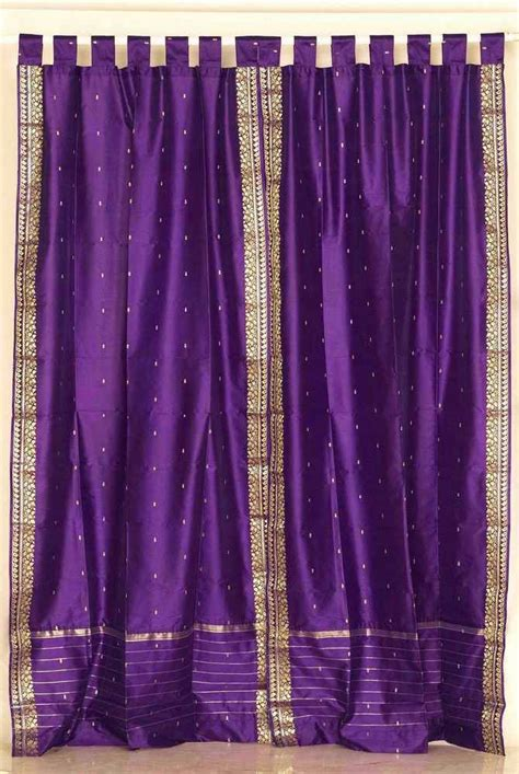purple and gold curtains purple and gold sari tab top purple silk sari curtains