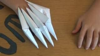 Origami Claw Glove - how to make paper claws