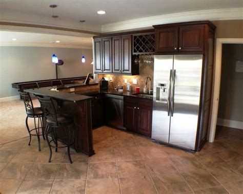 L Shaped Kitchen Designs Layouts by Basement Kitchen Bar Home Design Ideas Pictures Remodel